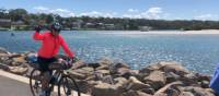 A great sense of achievement arriving into Huskisson on the South Coast Cycle |  <i>Kate Baker</i>