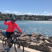 A great sense of achievement arriving into Huskisson on the South Coast Cycle | Kate Baker
