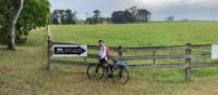 Cyclist stopping for winetasting at the Two Figs Winery near Nowra | Kate Baker