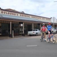 Cyclists in Gulgong   Ross Baker
