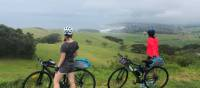 Cyclists soaking up the view of the coastline between Kiama and Gerroa | Kate Baker