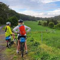 Cyclists taking in the rural vistas on the South Coast Self Guided Cycle | Gesine Cheung