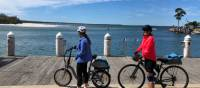 Cyclists taking in the view in Huskisson on Jervis Bay |  <i>Kate Baker</i>