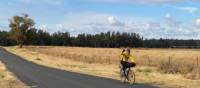 Happy cyclist on the route between Dubbo and Wellington   Michele Eckersley