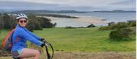 Teenager taking in the coastal views on enroute to Kiama on the South Coast Self Guided Cycle | Gesine Cheung