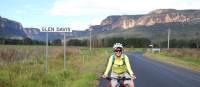 cyclist leaving Glen Davis in the Capertee Valley | Ross Baker