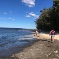 walkers on Jervis Bay near Huskisson | Kate Baker