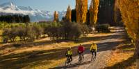 Cycling away from Mount Cook. |  <i>Colin Monteath</i>