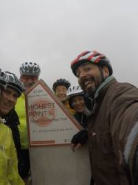 Group shot at the highest point on the Otago Rail Trail |  <i>Brad Atwal</i>