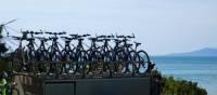 Bikes on the bike trailer   Leanne Atwal