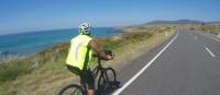 Cycling towards Bicheno on the East Coast | Brad Atwal