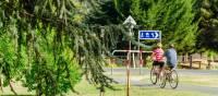 Cyclists near Bright