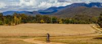 Cycling the Murray to Mountains Rail Trail near Bright