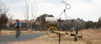 You'll encounter interesting cyclists on the Murray to the Mountains rail trail | Bruce Baker