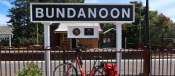 Bike at the Bundanoon Train Station | Kate Baker